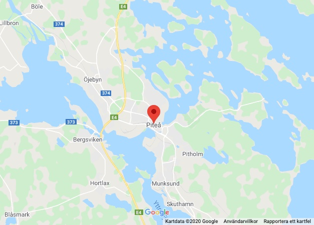 Karta över Piteå
