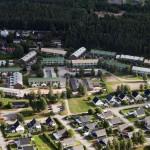 Flygfoto över Annelund.