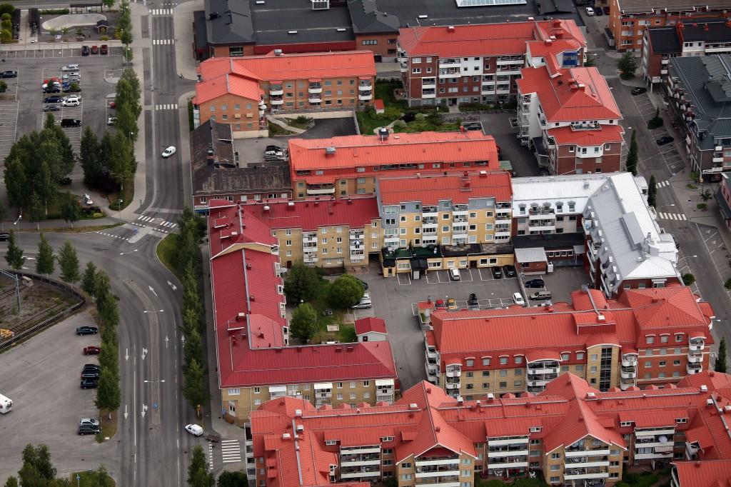 Flygfoto över kvarteret Renen